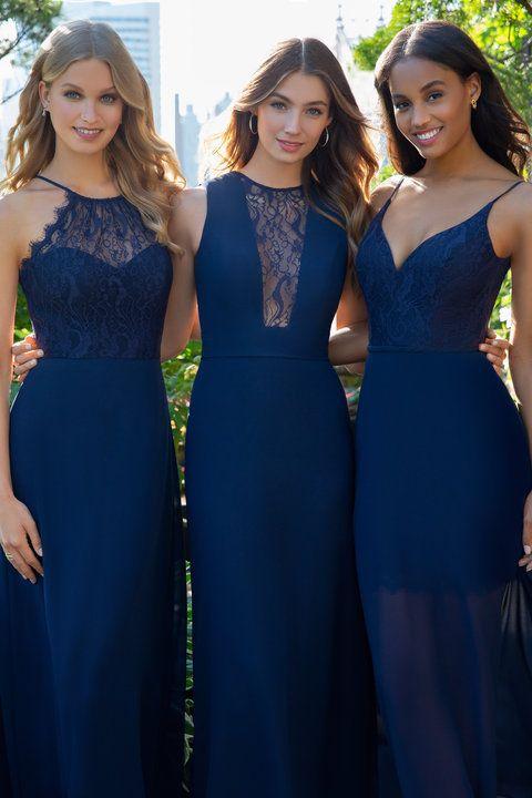 ebf3b5c482 Style 5866 Hayley Paige Occasions bridesmaids dress - Black chiffon A-line bridesmaids  gown