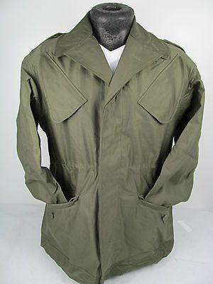 Dutch Army Vintage Military NATO Cotton Field Combat Jacket, Olive Drab Green