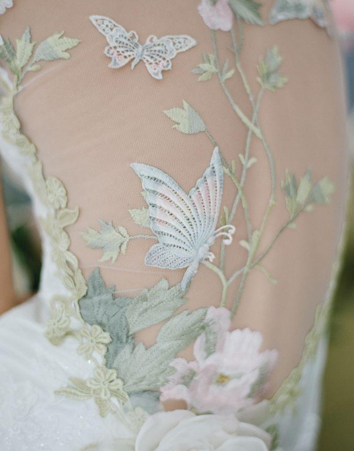 Details: Claire Pettibone 'Papillion' #weddingdress photographed by Elizabeth Messina http://www.clairepettibone.com/bridal/?cp=gowns/papillion