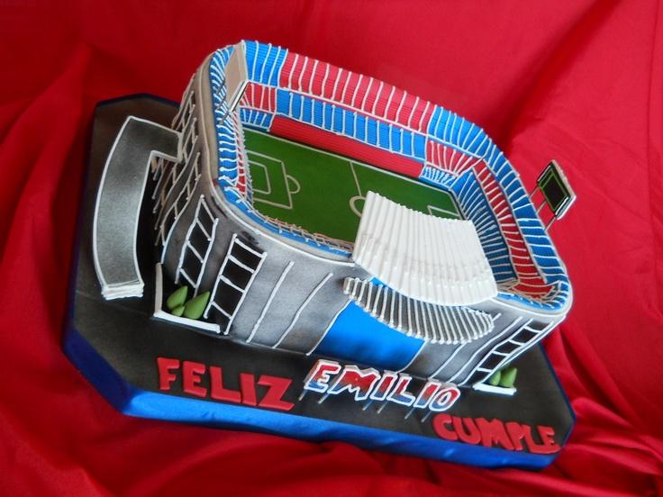 """Torta de Estadio de Fútbol. """"Camp Nou"""""""