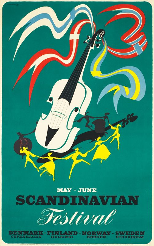 Thelander poster: May - June Scandinavian Festival
