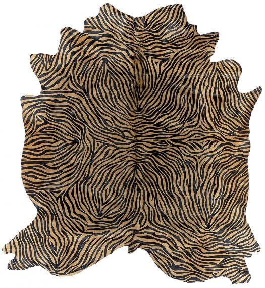 SITAP - Italian Fashion Carpets - Carpets collection - GLAMOUR LEATHERS CARPETS - Pelle ZEBRA MAXI CHAMPAGNE