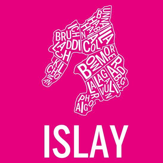 Islay i färgen negativ rosa