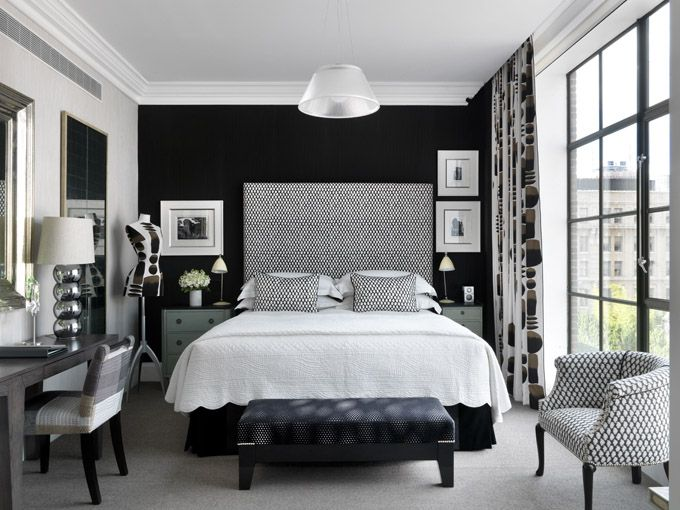 Crosby Street Hotel Bedroom. I need my own room to look like this. Black and Grey