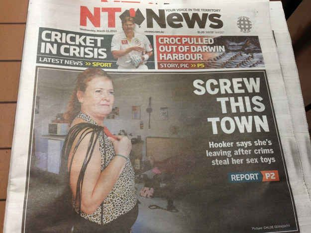 When the (always classic) NT News ran with this.   20 Times Australian Newspapers Forgot How To Newspaper