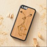 STANDING HARE CARVED® CHERRY iPhone 6 BUMPER CASE