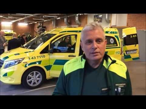 Premiär för lättvårdsambulans i Region Jönköpings län.   Premiere for easy care ambulance in Region Jönköping County.