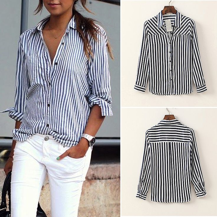 Women Blouse Casual Shirt Spring Autumn Long Sleeve Striped Shirt Women Shirt Tops For Women