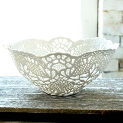 hand cut porcelain fruit bowl- WOW!!!!!!!!!!!!!!!!!!