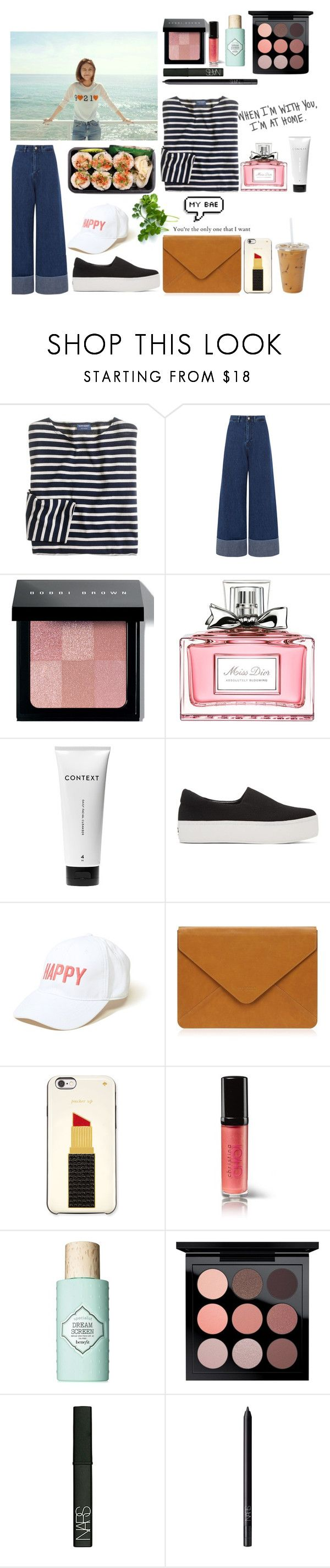 """Soo🐶"" by soojinchoi ❤ liked on Polyvore featuring J.Crew, Sea, New York, Bobbi Brown Cosmetics, Christian Dior, Context, Opening Ceremony, Hollister Co., Kate Spade, Christina Choi Cosmetics and Benefit"