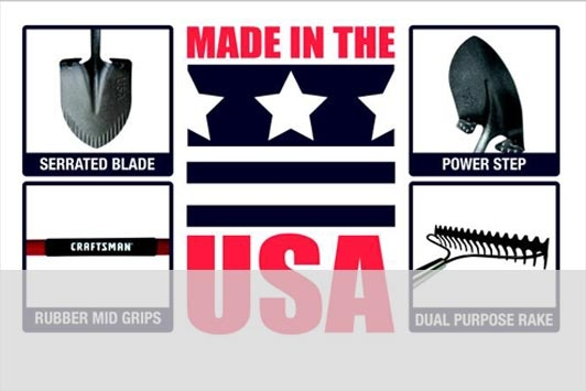 Craftsman's 2012 line-up of long-handled garden tools is made in the USA, with a lifetime warranty!