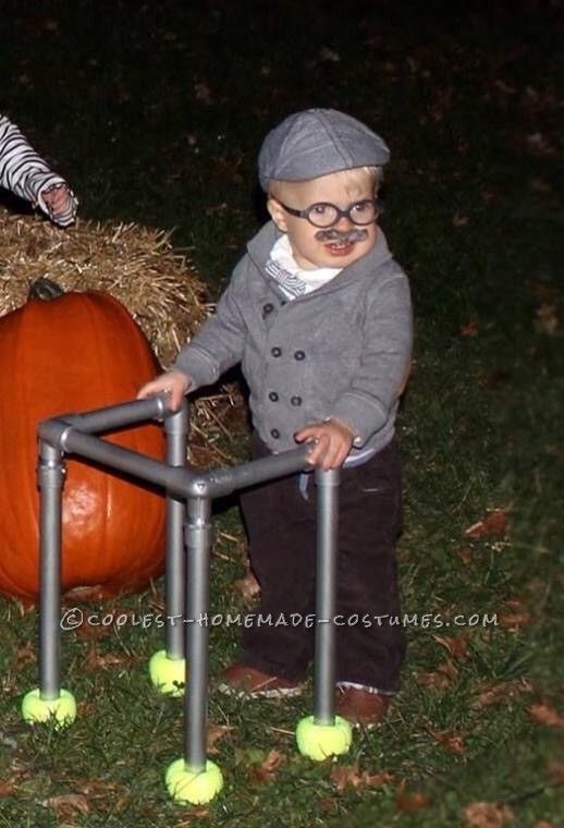 Cutest Little Old Man Costume for a Toddler... Coolest Halloween Costume Contest