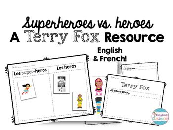 FREEBIE! Terry Fox activities in french and English - also a community helpers activity