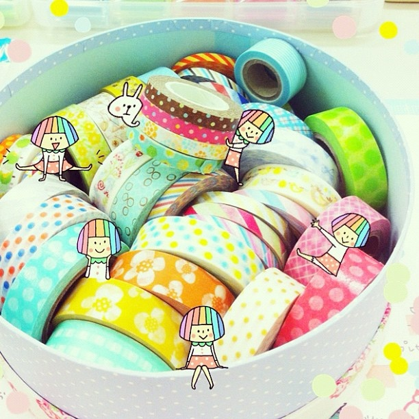 "@mizutamahanco's photo: ""マスキングテープ♡  Application:Snapeee"""