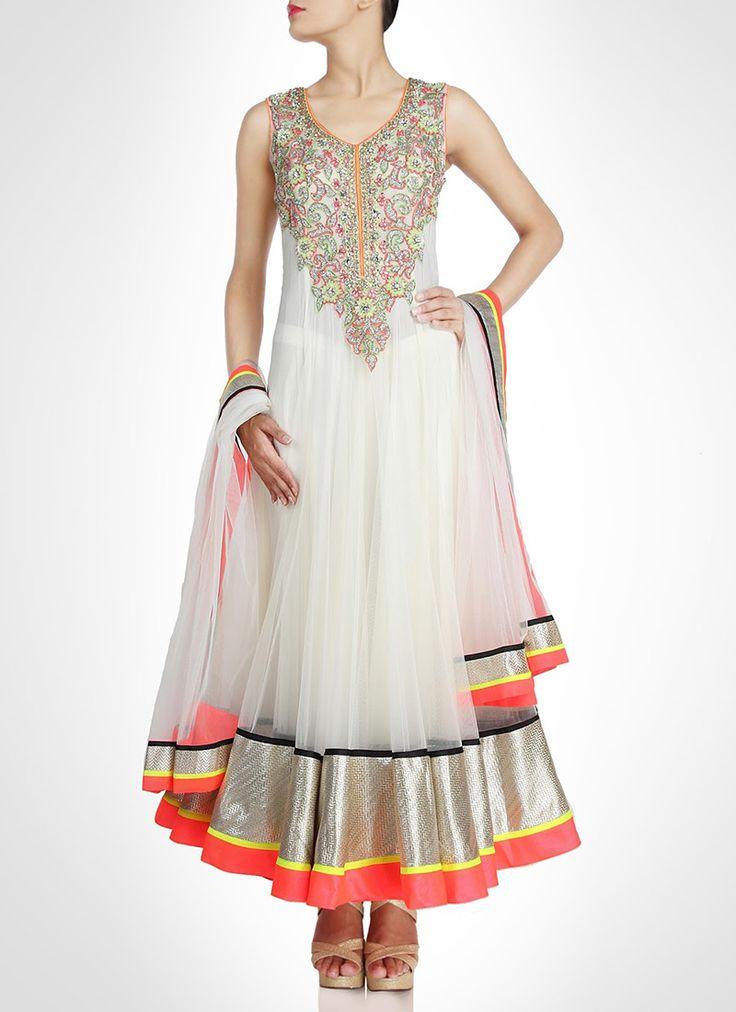 #Angelic Net Ankle Length #Anarkali Suit
