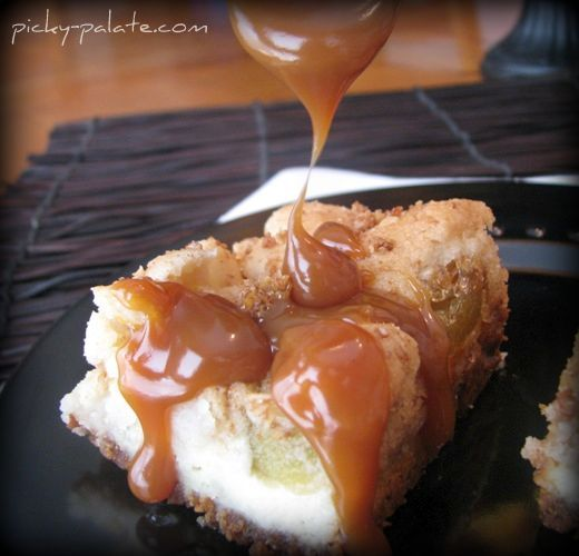 Whaaaaaaat?!? It has all the best words in it's title!! Caramel apple cream cheese cookie bars!!