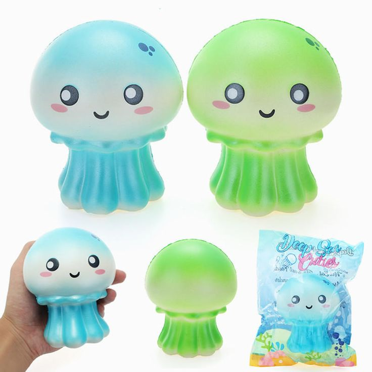 Cutie Creative Squishy Jellyfish Jumbo 10.5cm Shiny Slow Rising Original Packaging Collection Gift Decor Toy Sale - Banggood Mobile