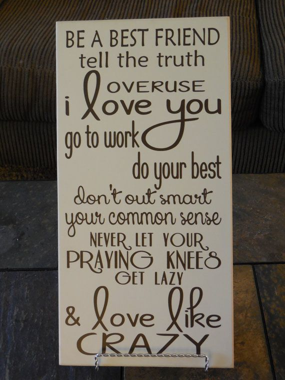 Love like crazy~ Lee Brice wood sign I LOVE THIS! Words to live by❤️