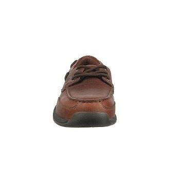 Rockport Works Men's Sailing Club Steel Toe Boat Shoes (Brown) - 10.0 M