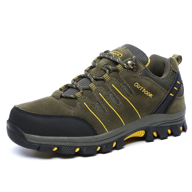 Hiking Shoes Outdoor Men Mountain Autumn/Winter Leather Men Shoes Slip on Trekking Shoes Men Outdoor Waterproof Free Shipping