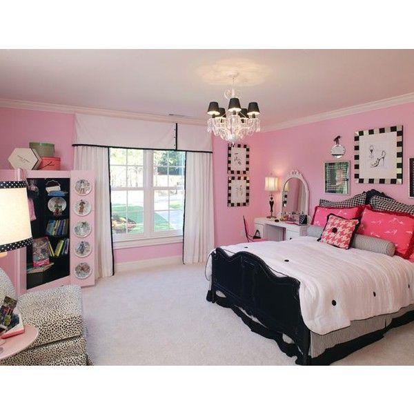 Pink and black image by sunshineeloveee on Photobucket ❤ liked on Polyvore