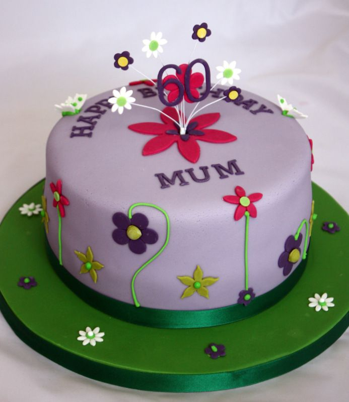 11 best mum 39 s 60th birthday cake ideas images on pinterest for 60th birthday cake decoration