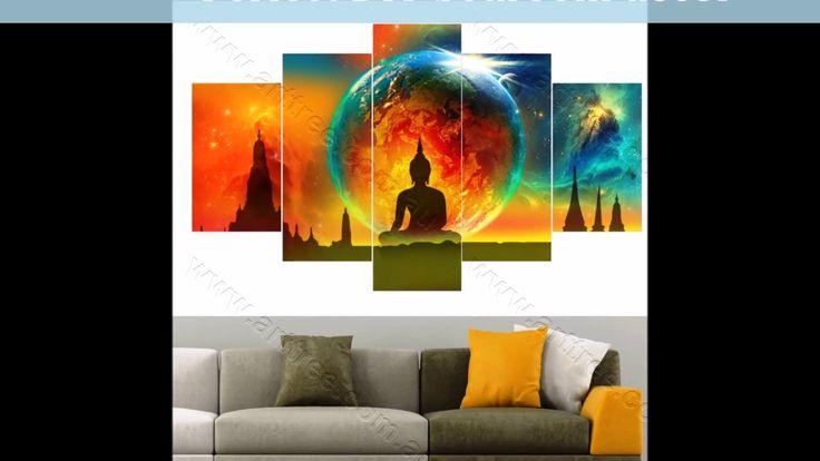 DIY Room Decor Ideas! Top Selling 5 Piece Buddha Canvas Prints Video #buddhadecor #interiordesignideas #decorideas #artvideo #homedecor #youtube