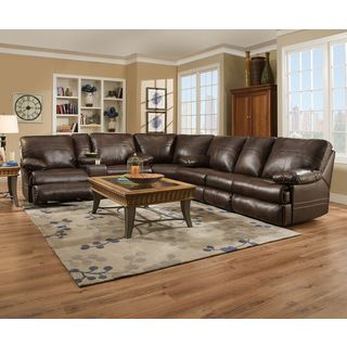 Hillrose Top Grain Dark Burgundy Leather Reclining Sectional Sofa | Overstock.com Shopping - The  sc 1 st  Pinterest : dark brown sectional couch - Sectionals, Sofas & Couches