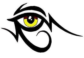 how to draw a tribal egyptian eye tattoo - I Could manipulate to incorporate My Initials - Great Idea