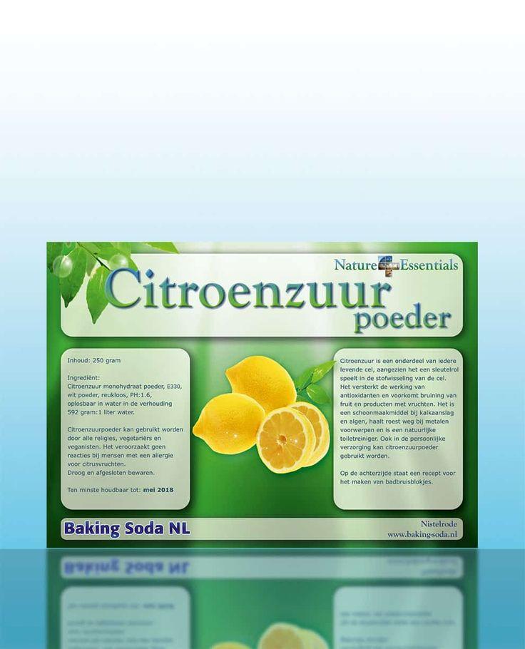 Citroenzuurpoeder van Nature Essentials - Citroenzuurpoeder en andere natuurlijke producten voor huishoudelijke en persoonlijke verzorging op baking-soda.nl