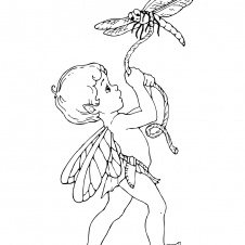 21 best faerie coloring pages images on pinterest   drawings ... - Coloring Pages Beautiful Angels