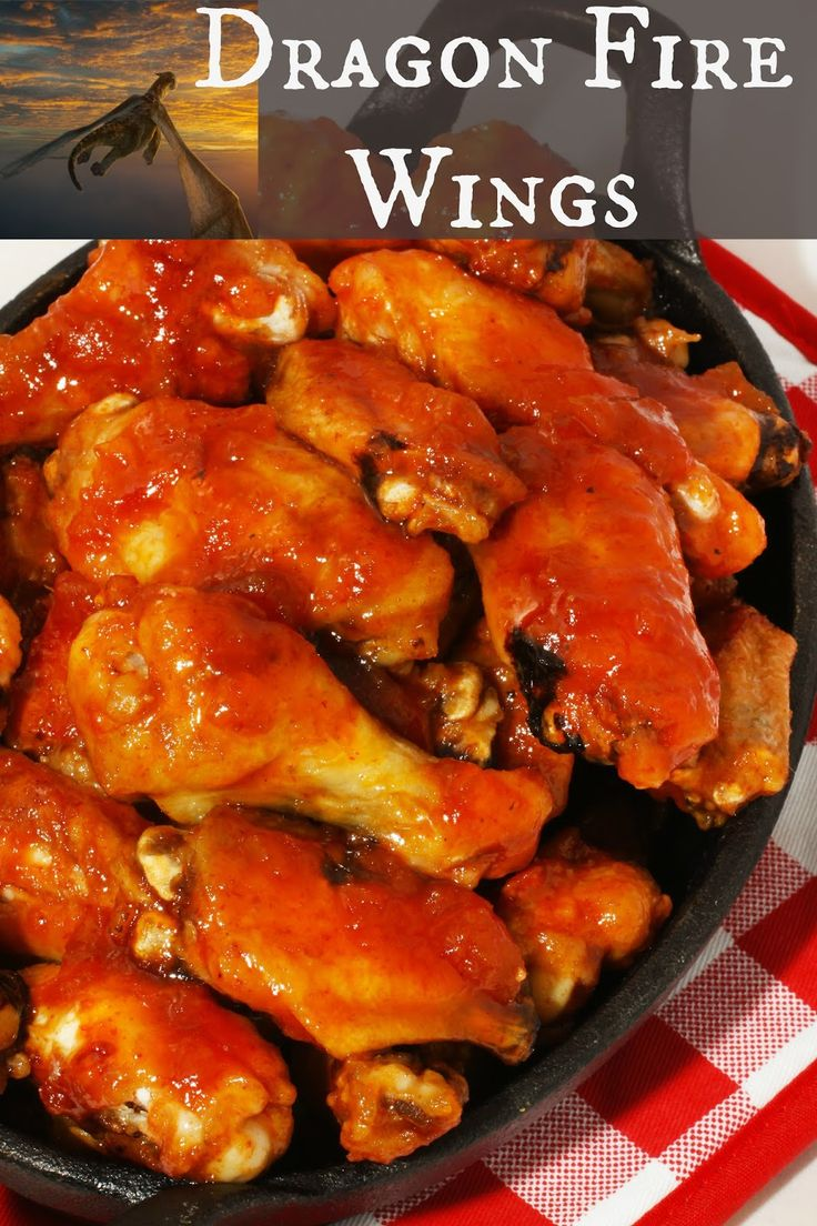 Dragon Fire Chicken Wings - restaurant style spicy sweet wings baked in the oven. #petesdragon