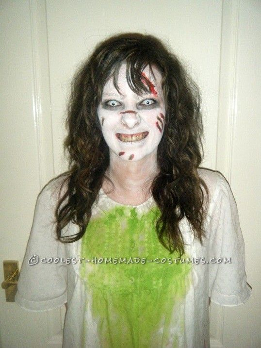 a cheap effective and damn scary regan from the exorcist costume - Cheap Creepy Halloween Costumes