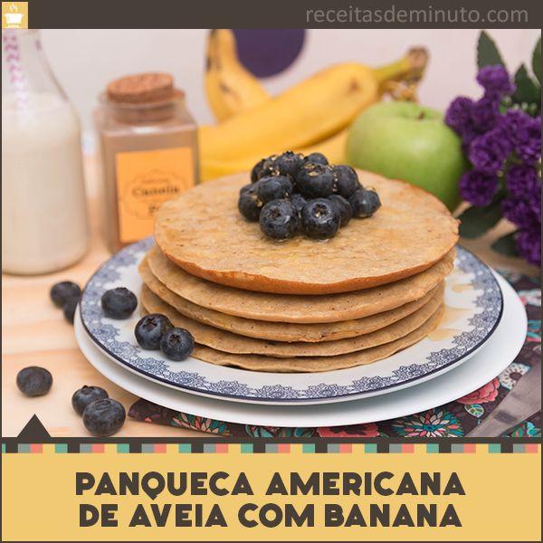 Essa Panqueca Americana é macia e feita com Banana e Aveia, perfeita para o café da manhã e pode ser congelado. ACESSE O LINK E VEJA A RECEITA E VÍDEO COMPLETO: http://receitasdeminuto.com/panqueca-americana-de-banana-e-aveia/
