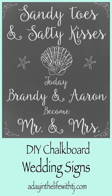 DIY Beach Wedding Signs...