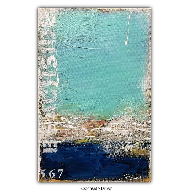 """""""""""Beachside Drive"""" (abstract landscape)"""" by Sabina D'Antonio. Paintings for Sale. Bluethumb - Online Art Gallery"""