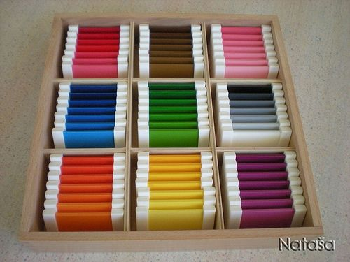 sensorial - Montessori Color Tablets and multiple DIY links