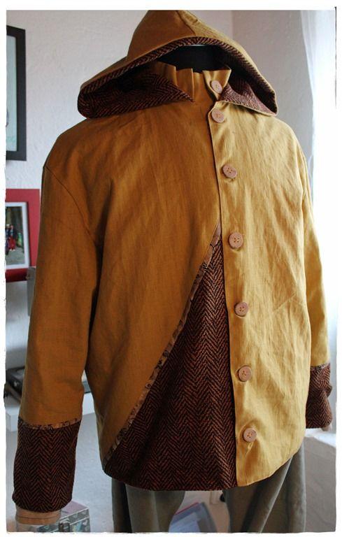 Veste - blouson homme sur mesure en lin