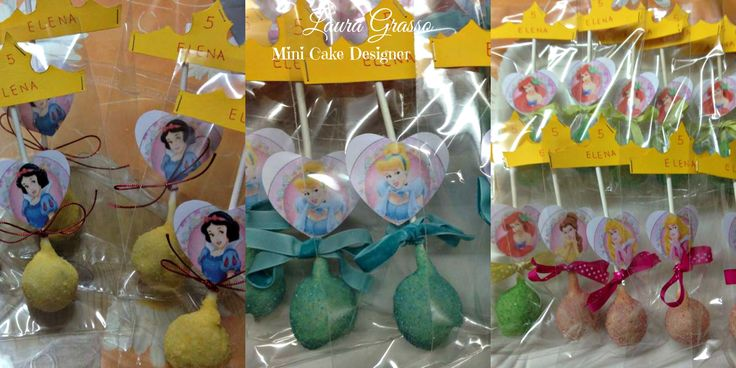 Disney princesses cake pops ...