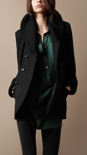Perfect fall peacoat. Burberry Brit Collection. $895