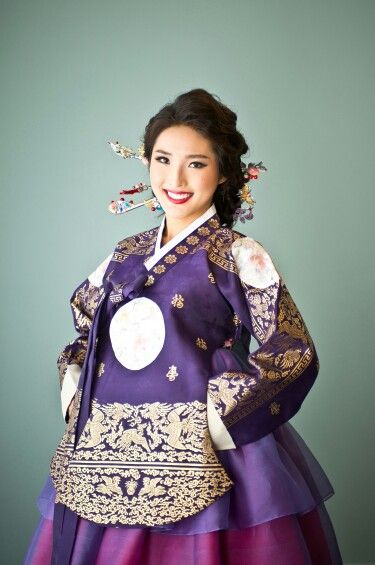 Purple and Gold Hanbok