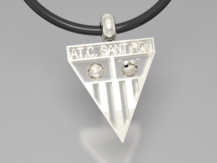 Colgante en plata, personalizado con el escudo del club.