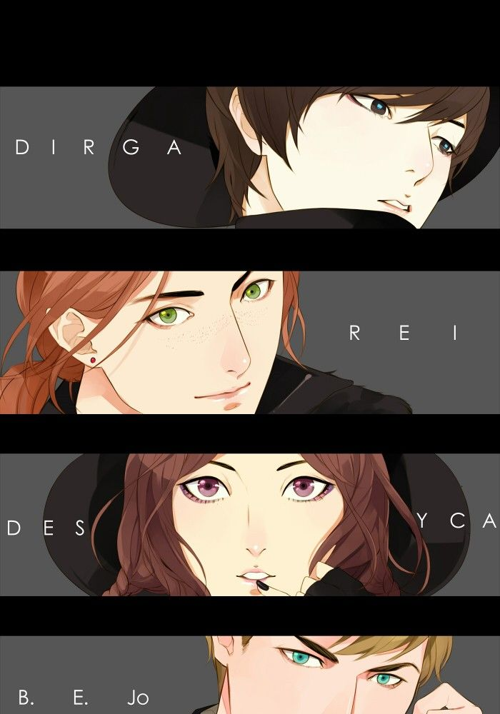 "Characters of ""304th STudy Room"" Indonesian Webtoon by Felicia Huang.  I LOVE IT."