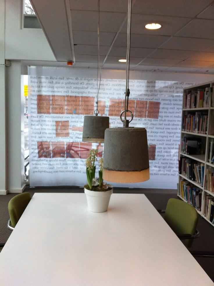 Lamp gezien @BKKC Tilburg, beton met siliconen