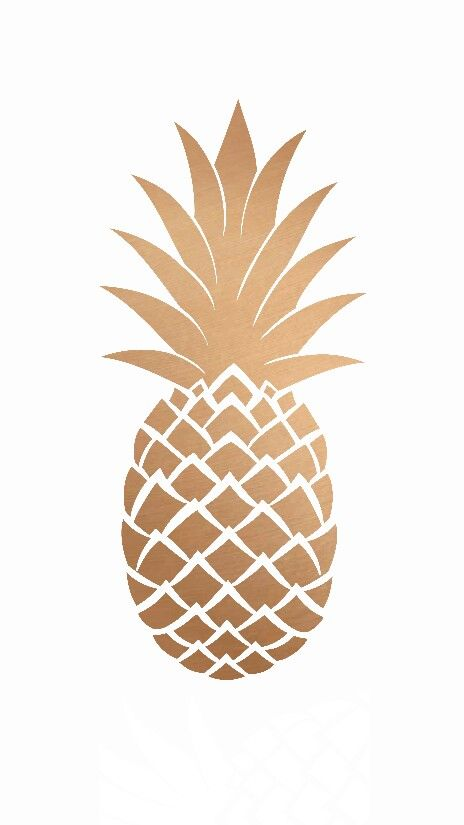 White Gold Pineapple Iphone Wallpaper Phone Background