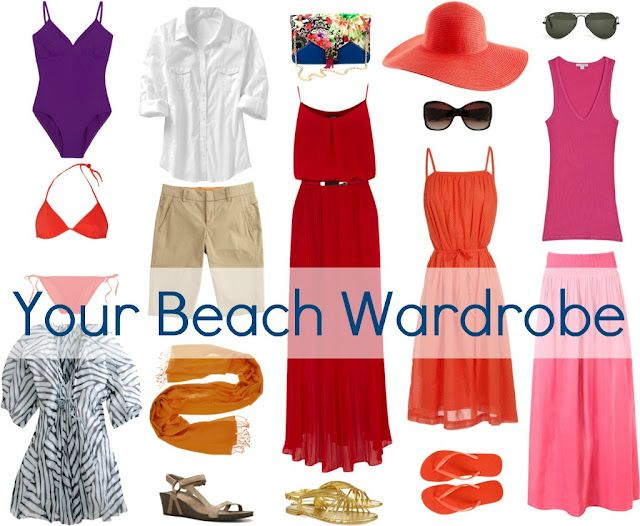 Beach wardrobe - Wardrobe Oxygen: What to Pack for Vacation