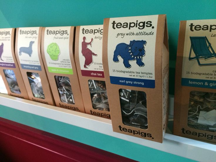 Teapigs teas  英国ティーピッグズのティーバッグ。
