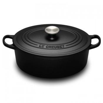 "Le Creuset ""Satin Black"" 27cm Oval French Oven - Teddingtons"