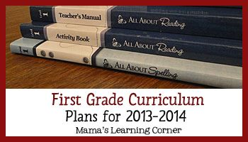 First Grade Curriculum Plans 2013-2014 - Reading/Phonics/Spelling, Math, Handwriting, Art, and more!