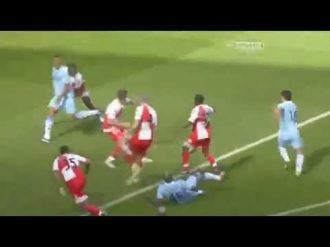 Probably the most dramatic moment in Premier league history as Sergio Aguero wins City the league with the very last kick of the 2011-2012 season!! For more on the Premier League, see http://www.betfred.com/premier-league-centre
